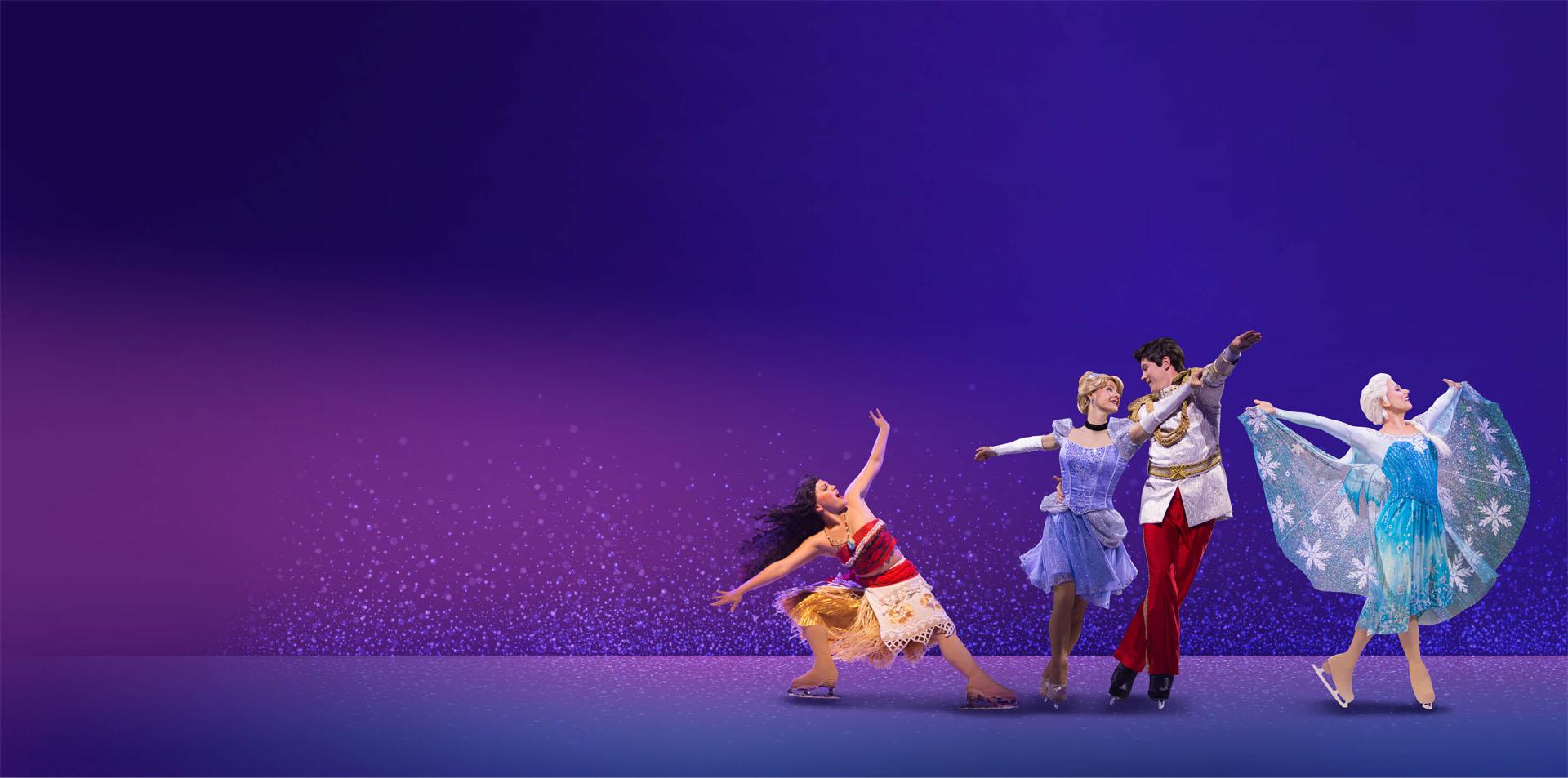 Queen elsa and friends dancing on ice