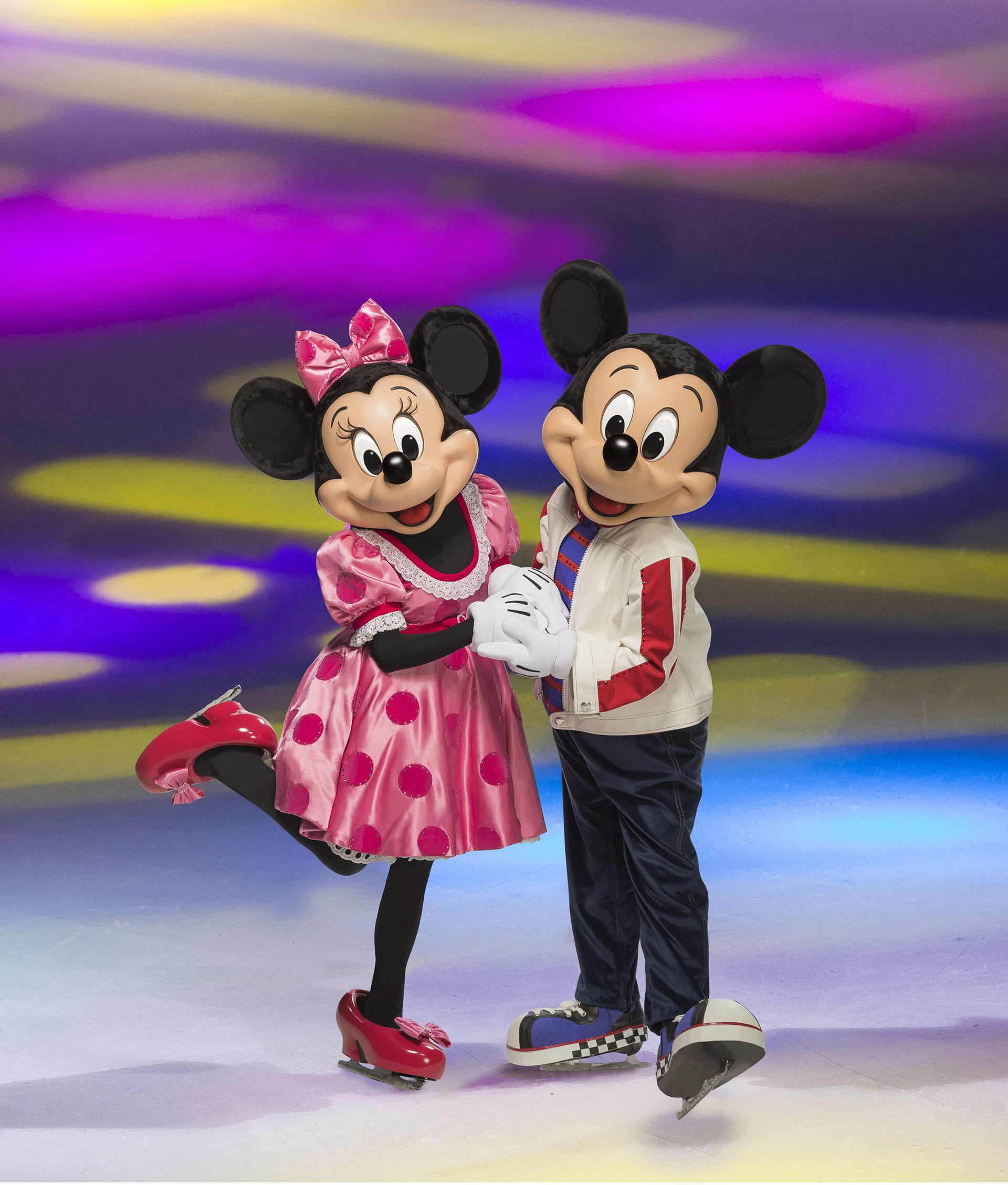 Minnie & Mickey Mouse on ice