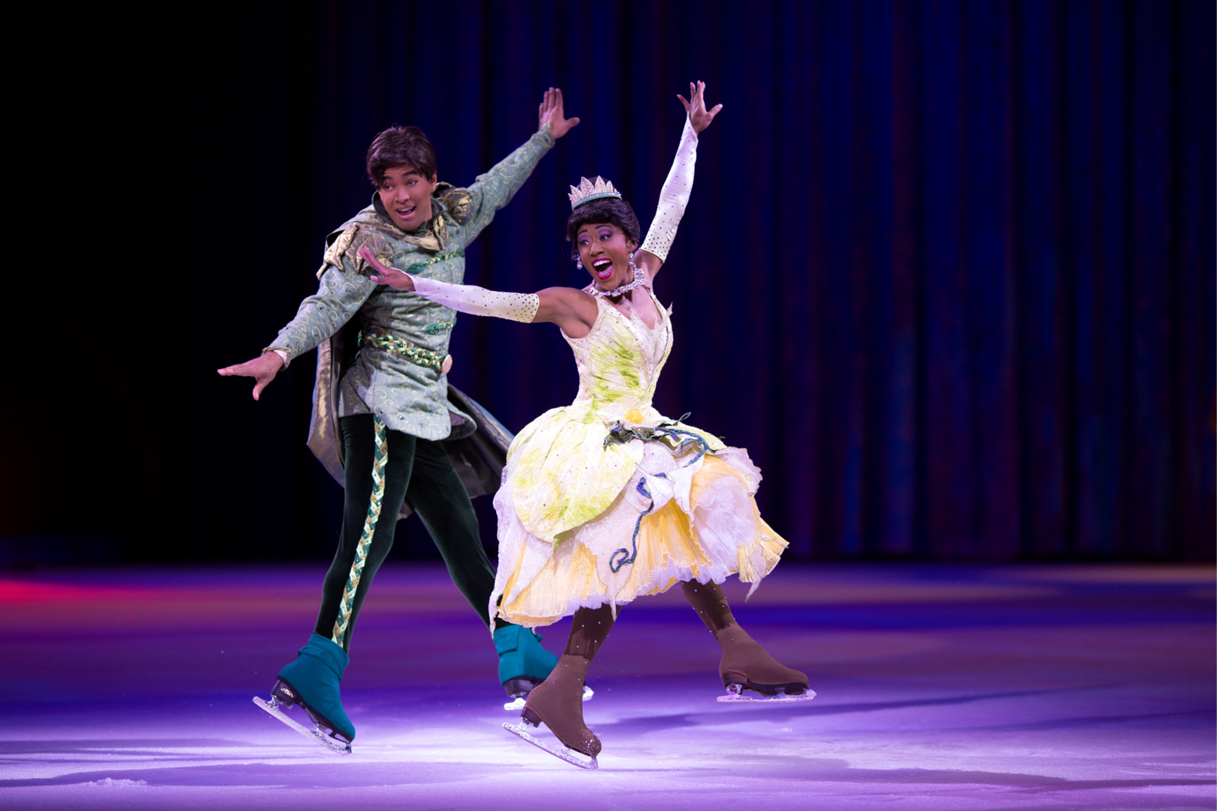 Princess Tiana and Prince Naveen from Disney's Princess & the Frog