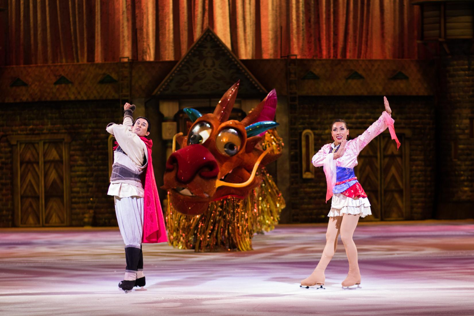 Mulan and Li Shang on Ice