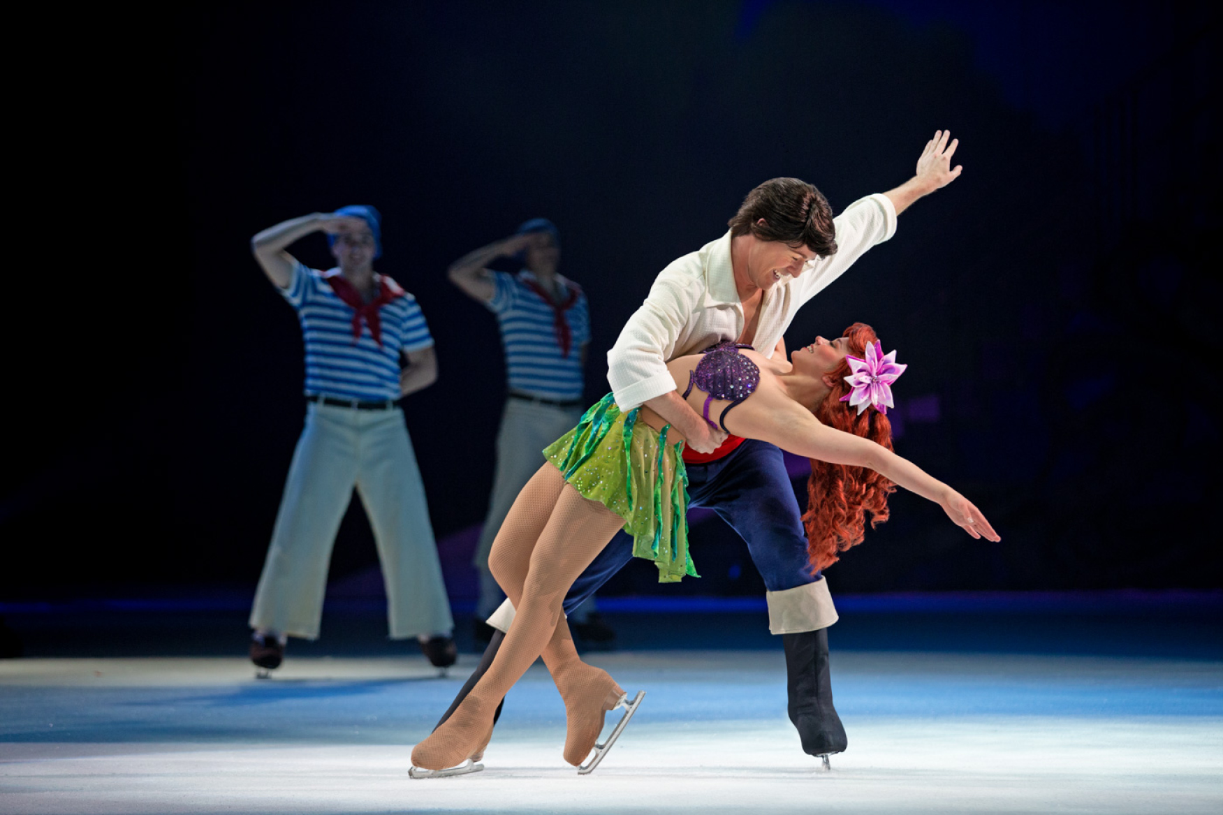 Ariel and Prince Eric on Ice