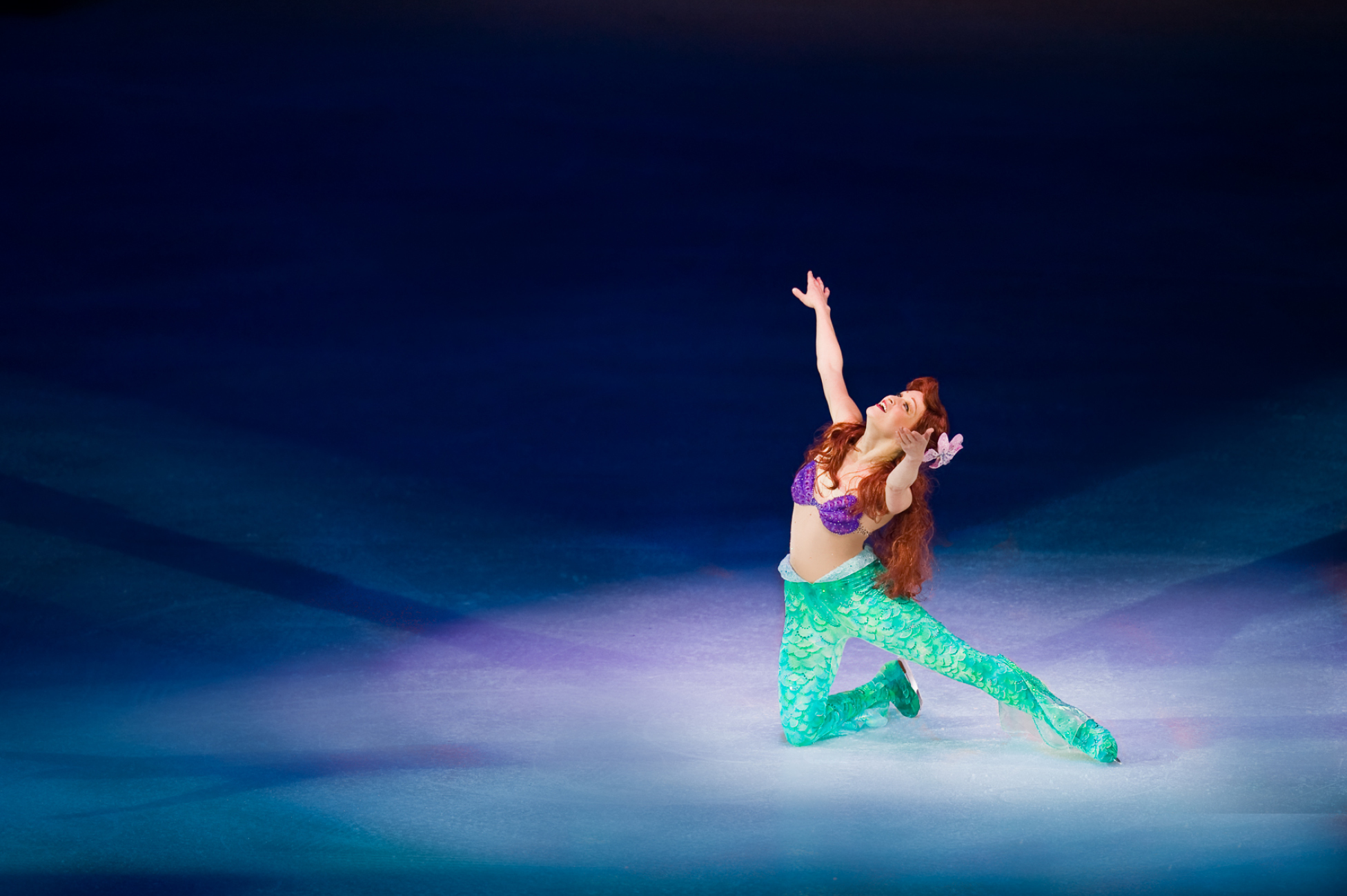 The Little Mermaid skating on Ice