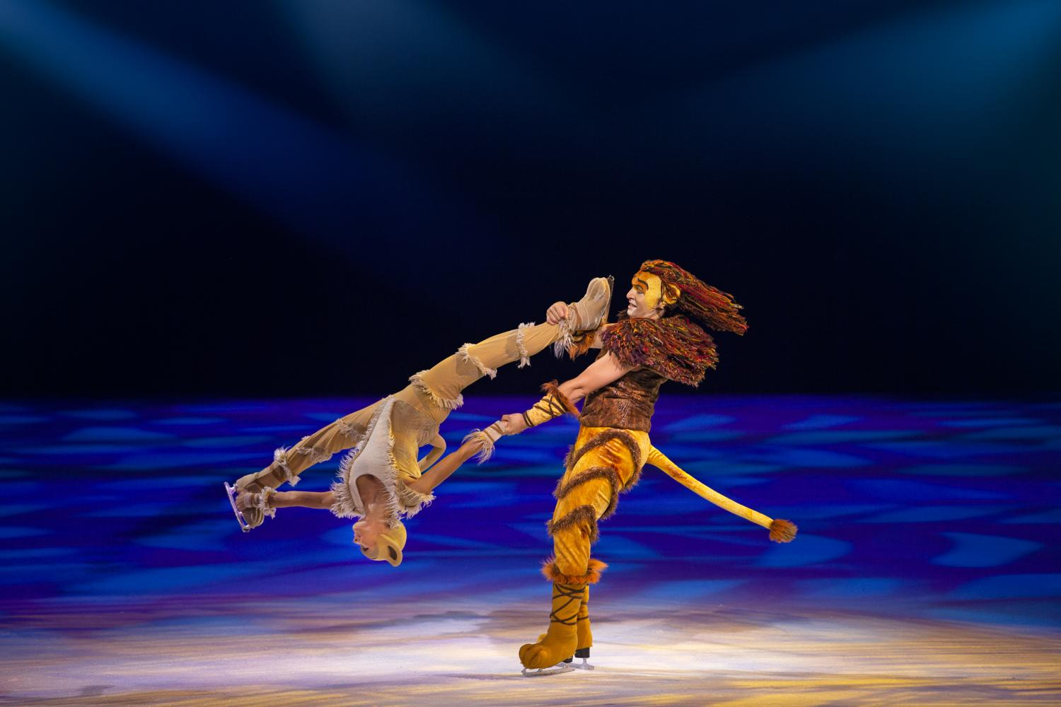 Simba and Nala dancing on ice