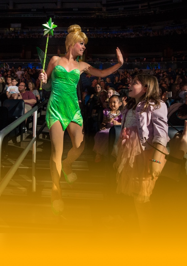 Tinker Bell engaging with the audience