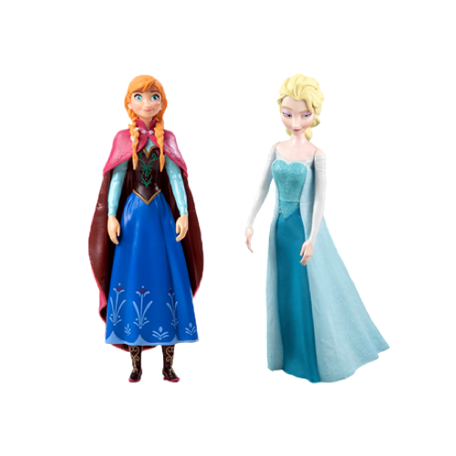 Frozen's Anna and Elsa Figurines