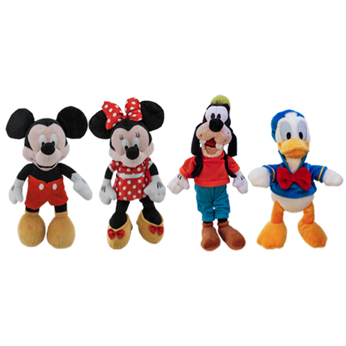 Mickey Mouse, Minnie Mouse, Donald Duck and Goofy Plush