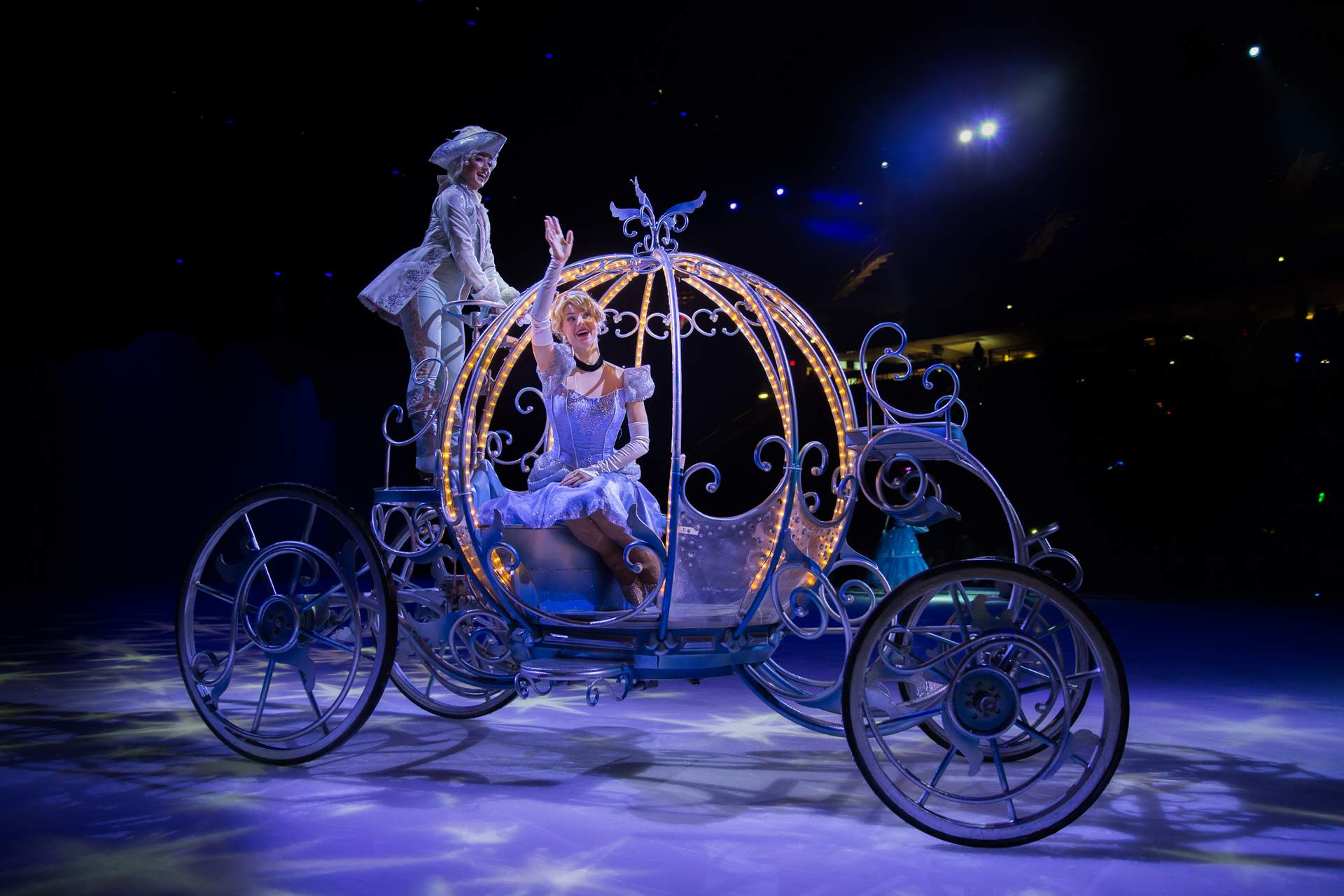 Cinderella in her carriage