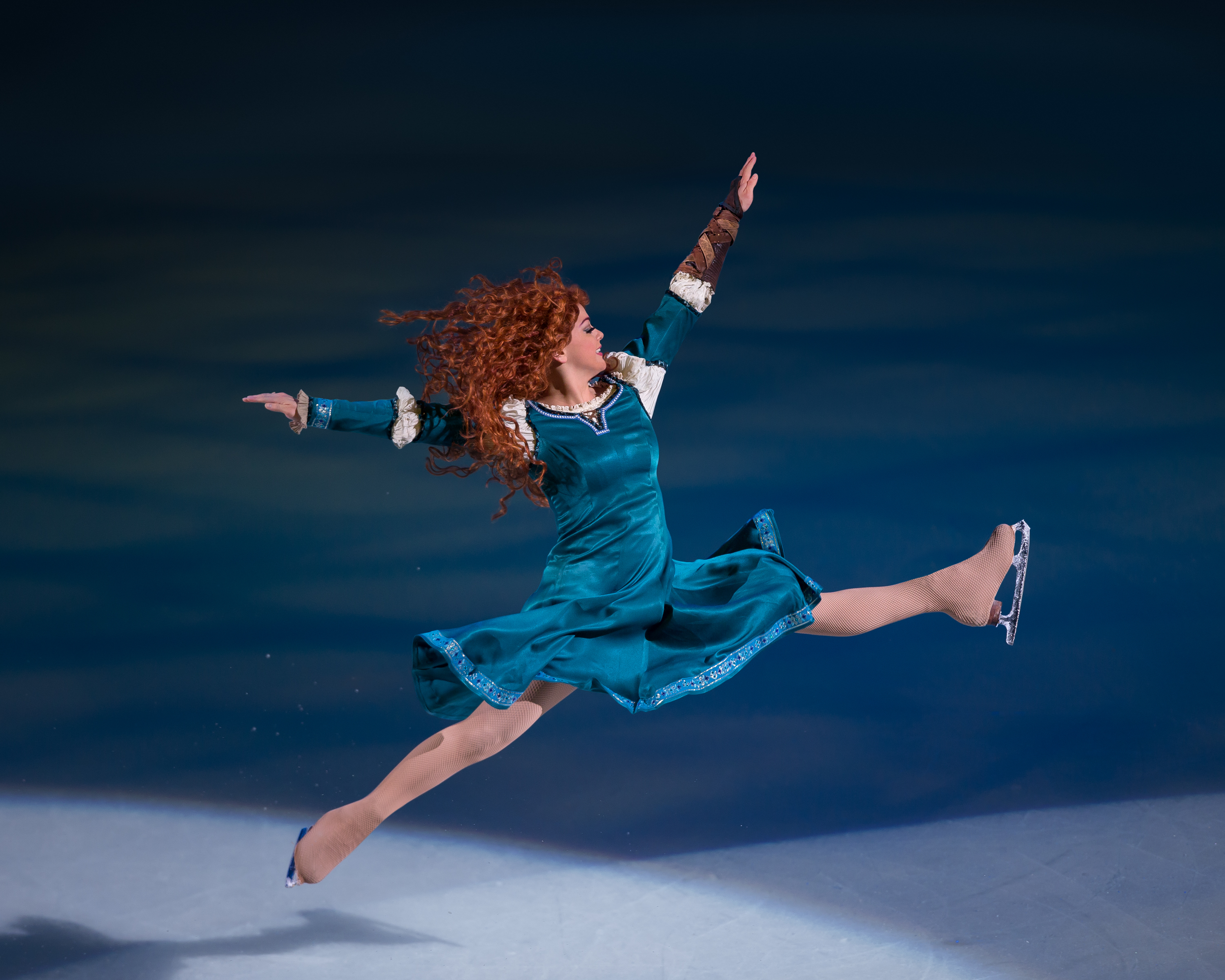 Princess Merida leaping on ice
