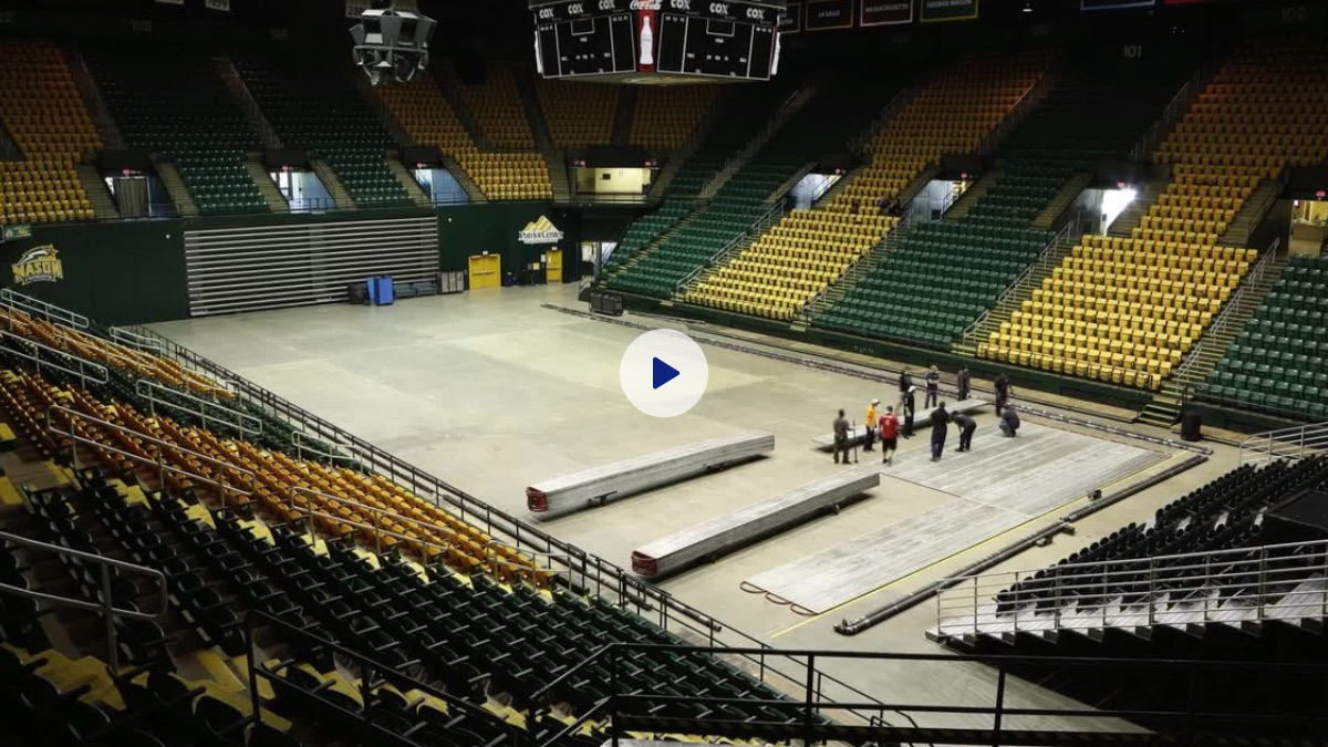 Making the ice rink for Disney On Ice