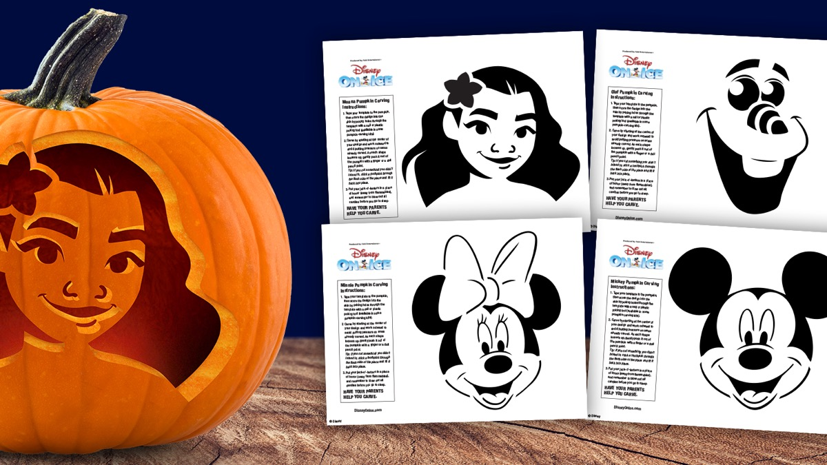 Disney On Ice Halloween Pumpkin Stencils