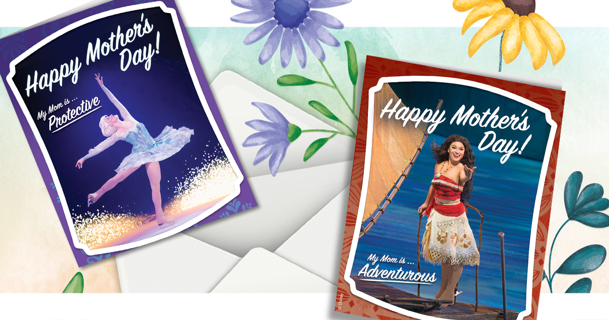 Mother's Day Disney Princess Cards