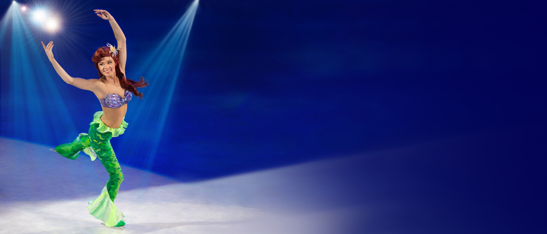 Ariel dancing on ice