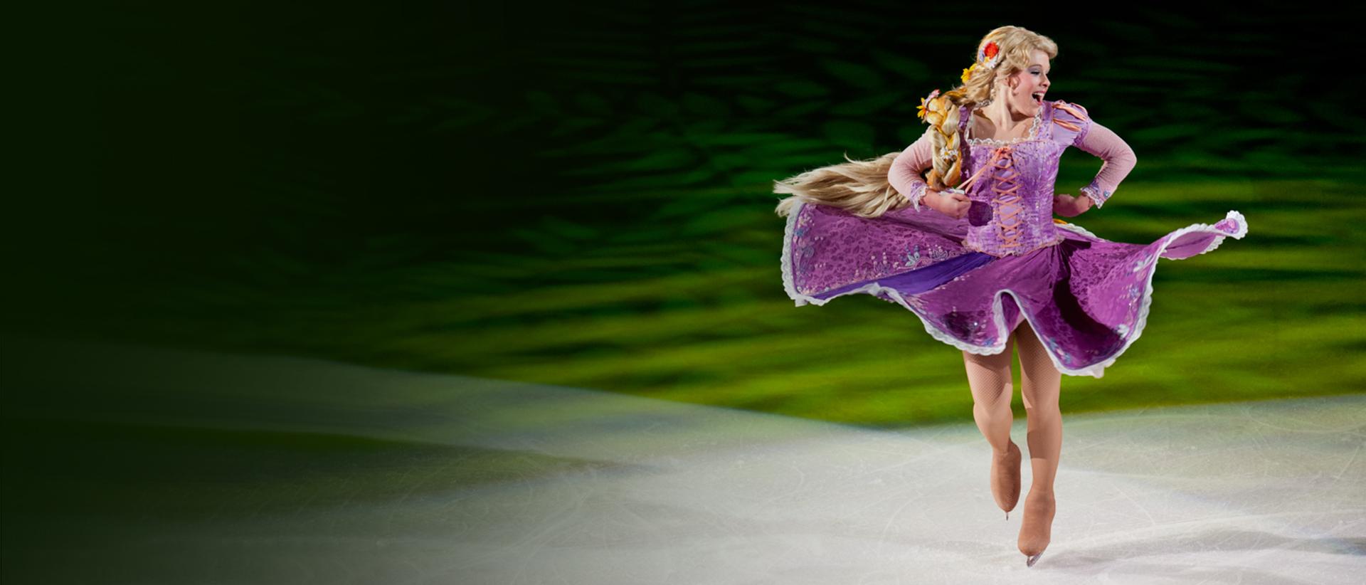 Rapunzel dancing on ice
