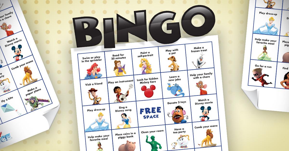 Disney On Ice summer bingo
