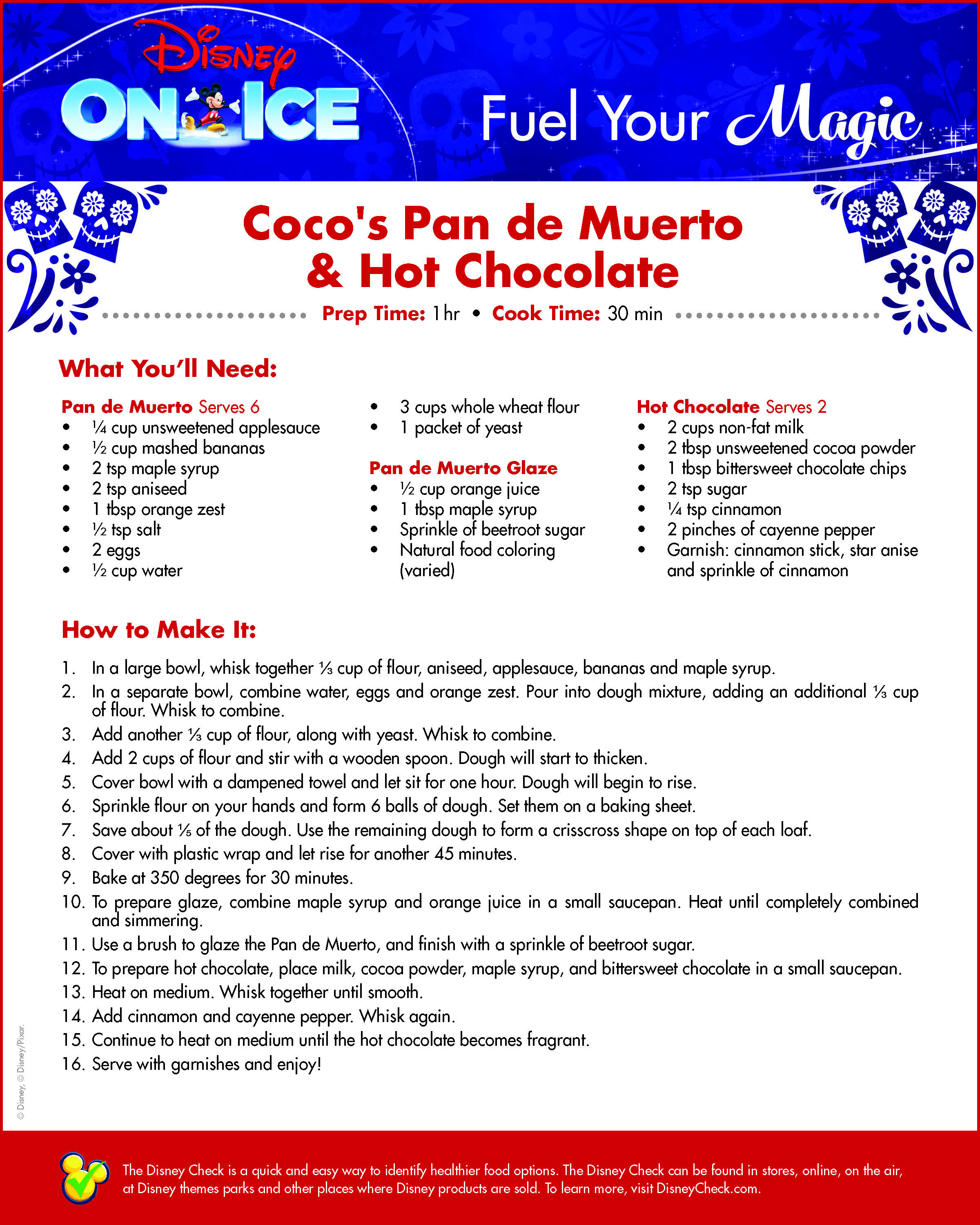 Coco's Pan de Muerto & Hot Chocolate