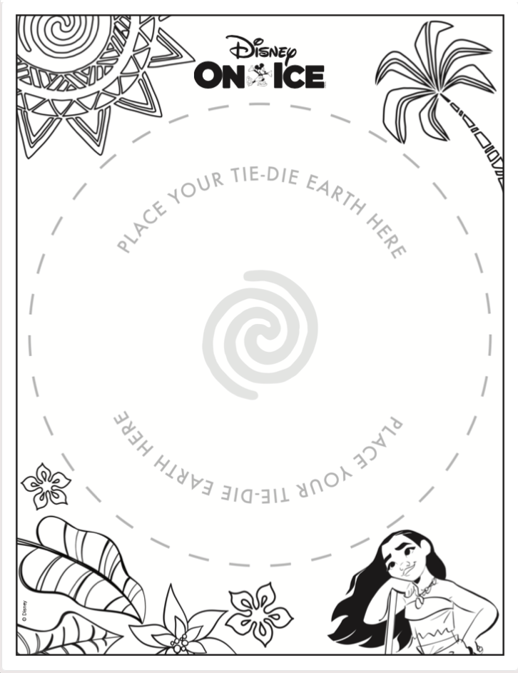 Earth Day Moana Coffee Filter Template PDF