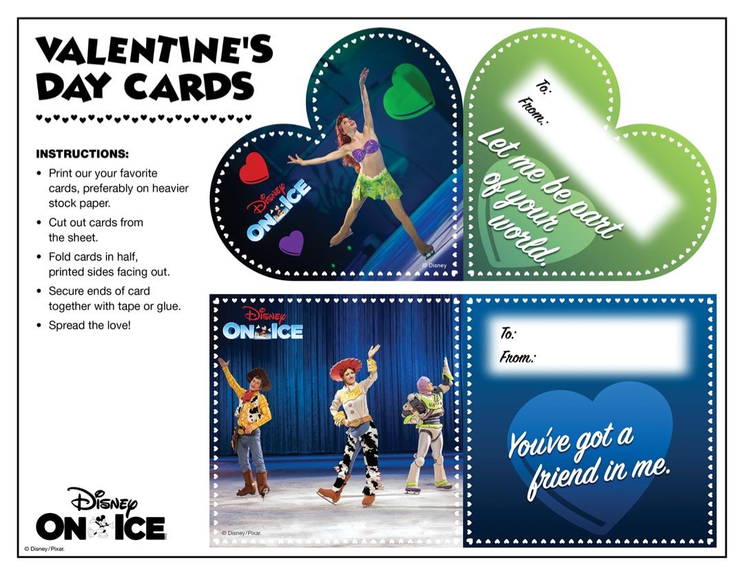 Disney On Ice Valentine's Day Cards