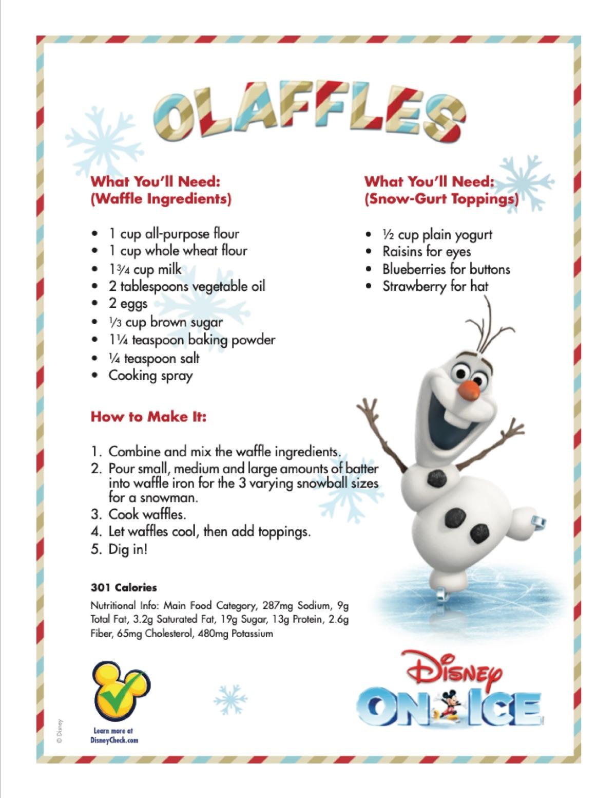 Olaffles Holiday Recipe